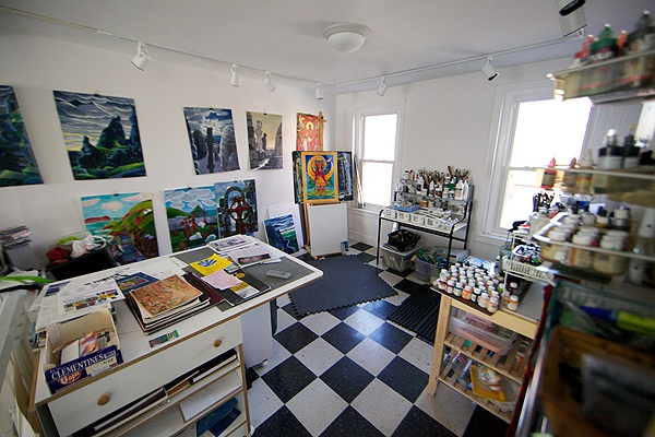 Mickey McGrath's studio in South Camden