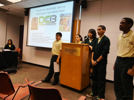 The Von Nieda Task Force presents their work  at the annual Romero Lecture last March.