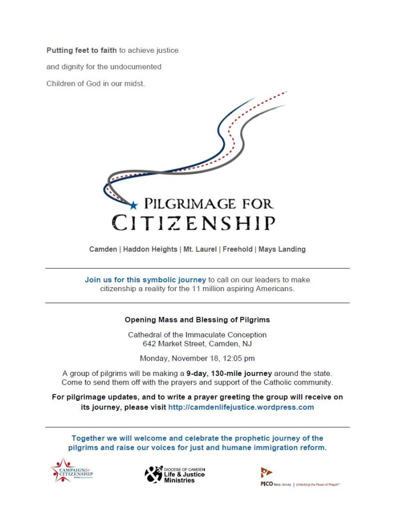 NJ Immigration Pilgrimage Flyer
