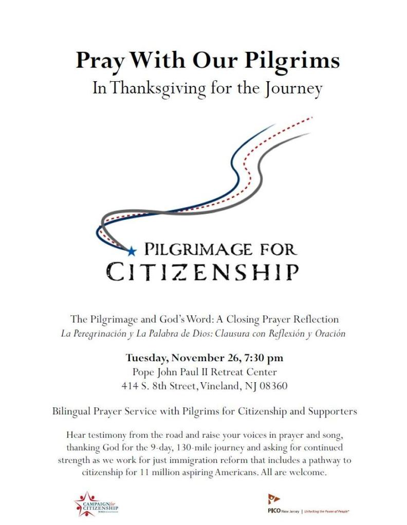 Pilgrimage for Citizenship Closing Prayer