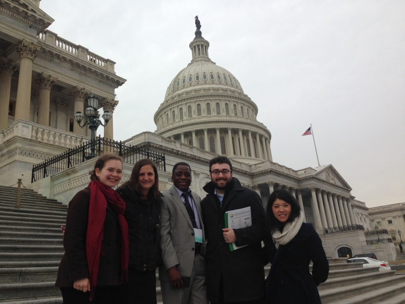 Grace, left, with the NJ advocacy team in Washington last Tuesday.