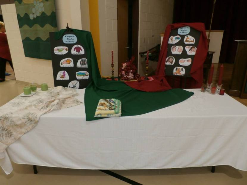 Prayer Table introducing Corporal and Spiritual Works of Mercy